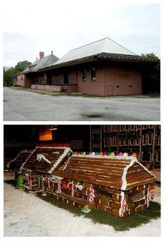 The Auburn University Train Depot is part of the Hotel at Auburn's Gingerbread Village! #auburn #gingerbread #holiday #auhcc