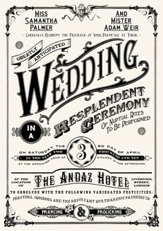 8 wedding graphic design ideas, like this invitation by Peter Bowen