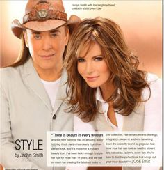 .Jaclyn Smith on her wig and falls hair  design with  Jose Eber