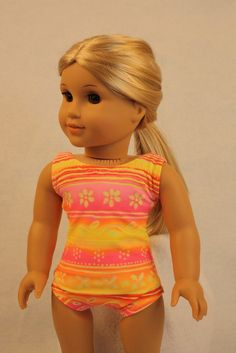 american girl doll swim suit | Swimsuit and Shoes Fits American Girl