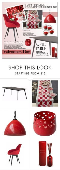 """""""Valentines Day"""" by cruzeirodotejo ❤ liked on Polyvore featuring interior, interiors, interior design, home, home decor, interior decorating, Crate and Barrel, Kubikoff, Archipelago Botanicals and National Tree Company"""
