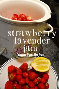 Easy Homesteading: CROCKPOT STRAWBERRY LAVENDER CHIA JAM (PECTIN AND SUGAR FREE)