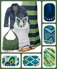 Green and casual
