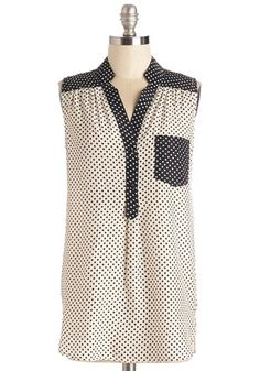 Girl About Scranton Tunic in Colorblock Dots, @ModCloth
