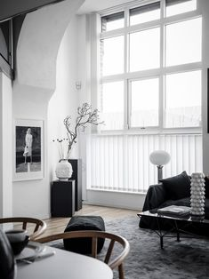 High contrast sofa corner