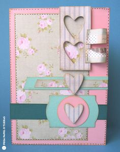 Crafting ideas from Sizzix UK: Starter Kit Series: 4 Hearts Card by Elena Roche