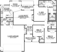 32x50 rectangle ranch house plans | Shaped Ranch House Plans | House ...