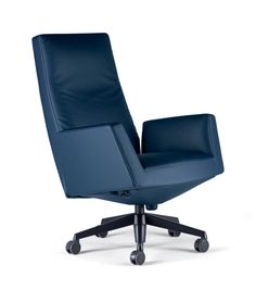 Swivel office chair Chancellor by Poltrona Frau | dieter horn