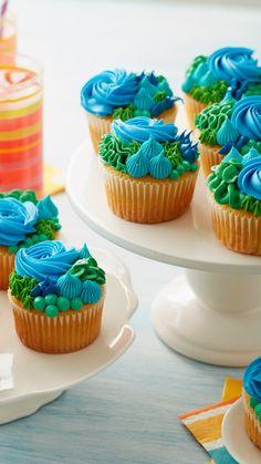 Cake Decorating With Fondant, Cake Decorating Techniques, Cake Decorating Tips, Cookie Decorating, Baking Cupcakes, Yummy Cupcakes, Cupcake Recipes, Cupcake Cakes, No Bake Treats