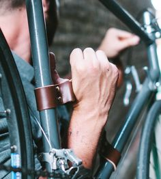 Leather Bike Carrying Handle by Fyxation on Scoutmob Shoppe