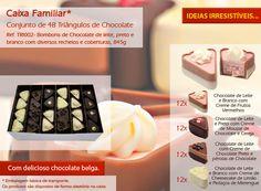 Experimente os nossos tiangulos de chocolate e com um irresistivel recheio!