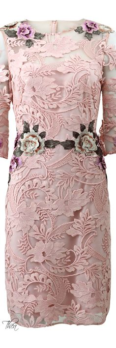♥Marchesa Floral Fashion, Pink Fashion, Womens Fashion, Fashion Design, Pink Dress, Lace Dress, Color Rosa, Couture Dresses, Evening Gowns