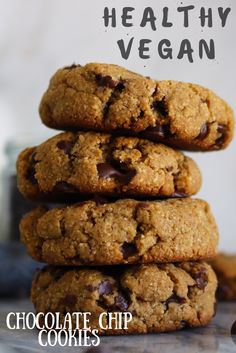 Easy and delicious Vegan Chocolate Chip Cookies!