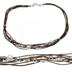 Check out this Brown Leather Multi Cord Necklace in just 24.30$!