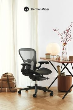 Upgrade your home office this season with a workspace setup, office chair, or desk that supports your posture, movement, and style. Enjoy quality ergonomics—the gift that keeps giving. Herman Miller, Work Chair, Human Centered Design, Comfortable Office Chair, Miller Homes, Ergonomic Office Chair, Home Office Chairs, Small Office, Desk
