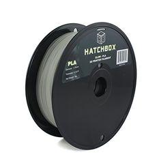 HATCHBOX 1.75mm Glow in the dark PLA 3D Printer Filament - 1kg Spool