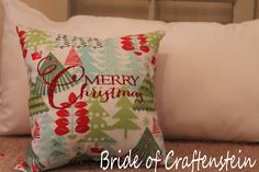Bride of CRAFTenstein: Merry Christmas pillow; silhouette cameo