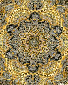 KALOR5SM  Florentine 3 - Italian Garden - Charcoal/Gold