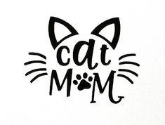 cat mom svg #svg #svgfile #cricut #dxf Crazy Cat Lady, Crazy Cats, Bookmark Craft, Mama Cat, Wallpaper Samsung, Cat Quotes, Cat Sayings, Cat Crafts, Russian Blue