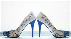 R2-D2 I LOVE YOU I KNOW STAR WARS HEELS