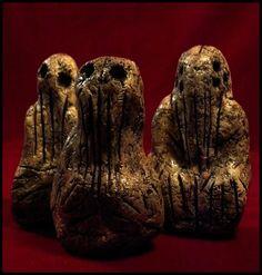 Mammoth Tusk Cthulhu Idols by JasonMcKittrick.deviantart.com on @deviantART