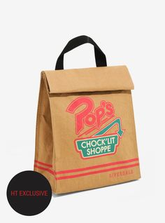 Perfect for your Pop's leftovers! // Riverdale Pop's Chock'lit Shoppe Insulated Lunch Sack