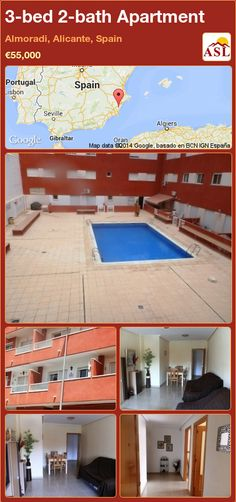 3-bed 2-bath Apartment in Almoradi, Alicante, Spain ►€55,000 #PropertyForSaleInSpain