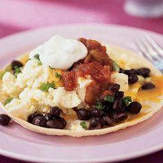 Quick Breakfast Tostada  Brunch Menu - Easy Brunch Recipes