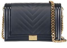 Designinverso Blue Geometric Shoulder Bag