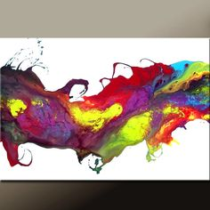WILD DREAMS - new Abstract Modern Art Painting  36x24 Original by wostudios on Etsy, $129.00