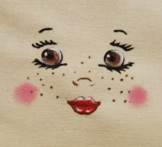 Visage, figure, tête de poupée en chiffon pour création textile DIY poupée en chiffon : Déco, Customisation Textile par secotine-mercerie