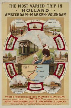 The most varied trip in Holland Amsterdam-Marken-Volendam /…/ T.N.T.M. /…/ Verv.jaar:Ca. 1915 #NoordHolland #Marken #Volendam