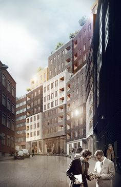'Paradiset 19-21′ Housing by Kjellander + Sjöberg Architects