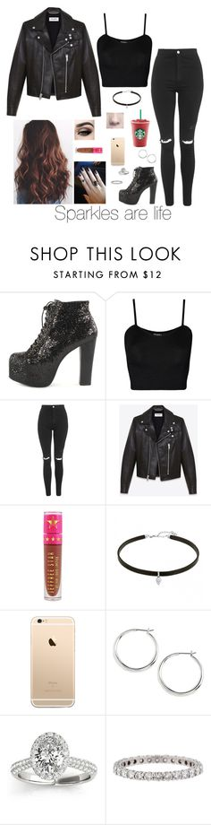 """Sparkles are life"" by brenda-all-over ❤ liked on Polyvore featuring Jeffrey Campbell, WearAll, Topshop, Yves Saint Laurent, Jeffree Star, Lauren Ralph Lauren, Allurez and Tiffany & Co."