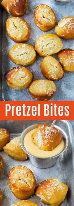 Easy Pretzel Bites - soft and delicious homemade pretzel bites that you can't stop eating. Serve them with cheddar cheese sauce. A perfect snack any time of the day | rasamalaysia.com