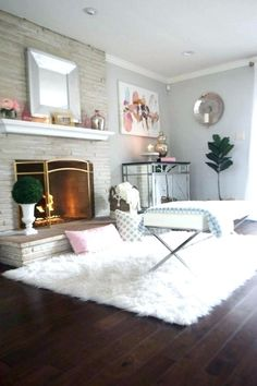 Enchanting White Faux Fur Rug Pics Ideas Or Area Room Rugsrugs In Living