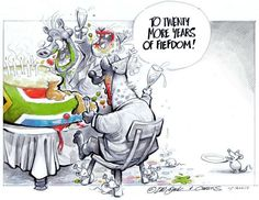 3 years ago, Dr Jack & Curtis marked SA's 20th anniversary of freedom with this cartoon...