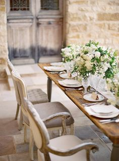 Wedding Wednesday Ivory Elegance French Country Dining Room Decorating