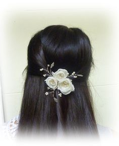 Ivory wedding  hair comb fascinator Veil Accessory by GingiBeads, $34.00