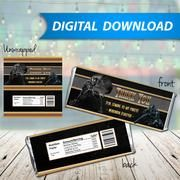 Black Panther Candy Bar Wrappers, Hershey Bar Wrappers, party favor - PRINTABLE INSTANT DOWNLOAD