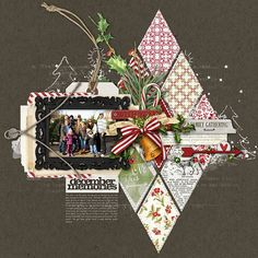 geometric #december #scrapbook layout by Kayleigh Wiles at DesignerDigitals #shopDesignerDigitals