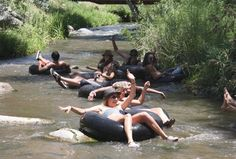 tubing the san luis rey river at the la jolla indian campground california