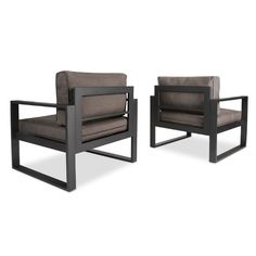 Complete your outdoor living space with the Real Flame Baltic Casual Outdoor Club Chairs. It features deep seating, mold resistant foam cushions, and a durable powder coated rust free aluminum frame. Steel Furniture, Lounge Furniture, Rustic Furniture, Furniture Design, Outdoor Furniture, Modern Furniture, Antique Furniture, Furniture Layout, Welded Furniture