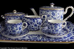 A fabulous tea for two service in Royal Crown Derby s original Wilmot design registered 2 February 1868. A perfect breakfast set for today!