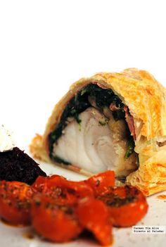 Directo al Paladar - Rape Wellington. Receta Michelin Star Food, Spanakopita, Fish And Seafood, Fish Recipes, Sushi, Goodies, Favorite Recipes, Eat, Cooking