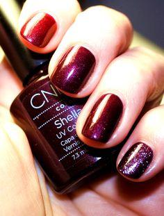 This is my go to fall color - CND Shellac Dark Lava Shellac Nail Colors, Uv Nail Polish, Shellac Manicure, Shellac Nails, Manicures, Manicure Ideas, Nail Ideas, Creative Nail Designs, Creative Nails