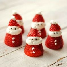 Santa Strawberries my kids love strawberries gonna have this a the table with dinner for Xmas