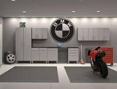 Within the previous ten years that unfavorable view of the garage has changed considerably. Climatizing the garage has become much more than an afterthought. Vinyl Decor, Vinyl Wall Decals, Art Decor, Sticker Vinyl, Logo Sticker, Home Decor, Bmw Logo, 1m Coupe, Garage Floor Paint