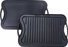 Utopia Kitchen Reversible Cast Iron Grill Griddle 17 x 10 inch