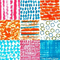 CC q-tips paint experiment collage
